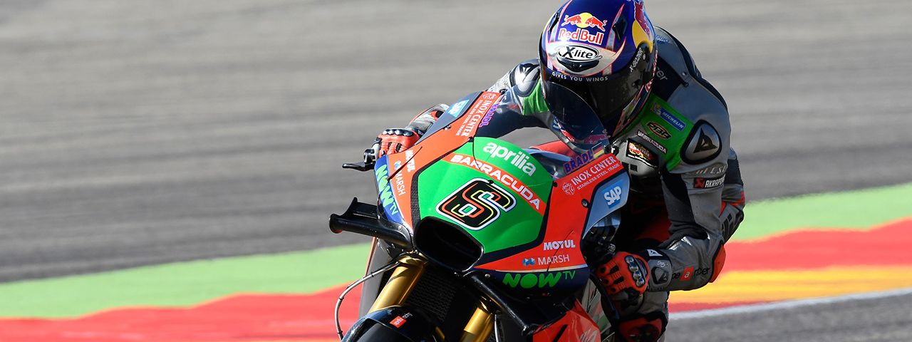 APRILIA CONTINUES TO IMPROVE AT ARAGÓN