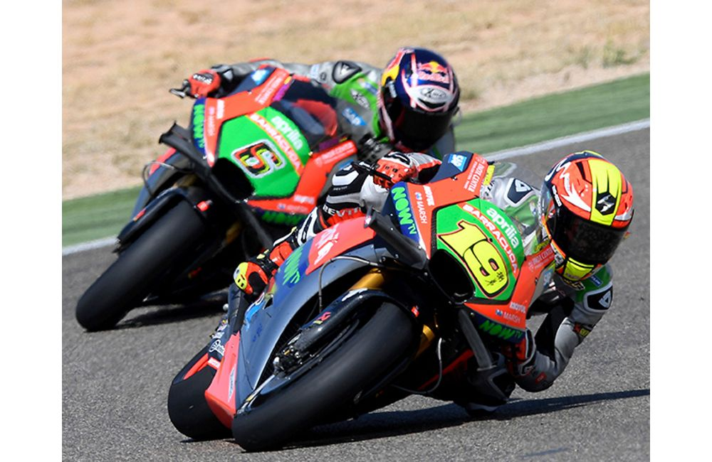 GOOD RACE AND EXCELLENT RESULT FOR THE APRILIAS AT ARAGÓN_0