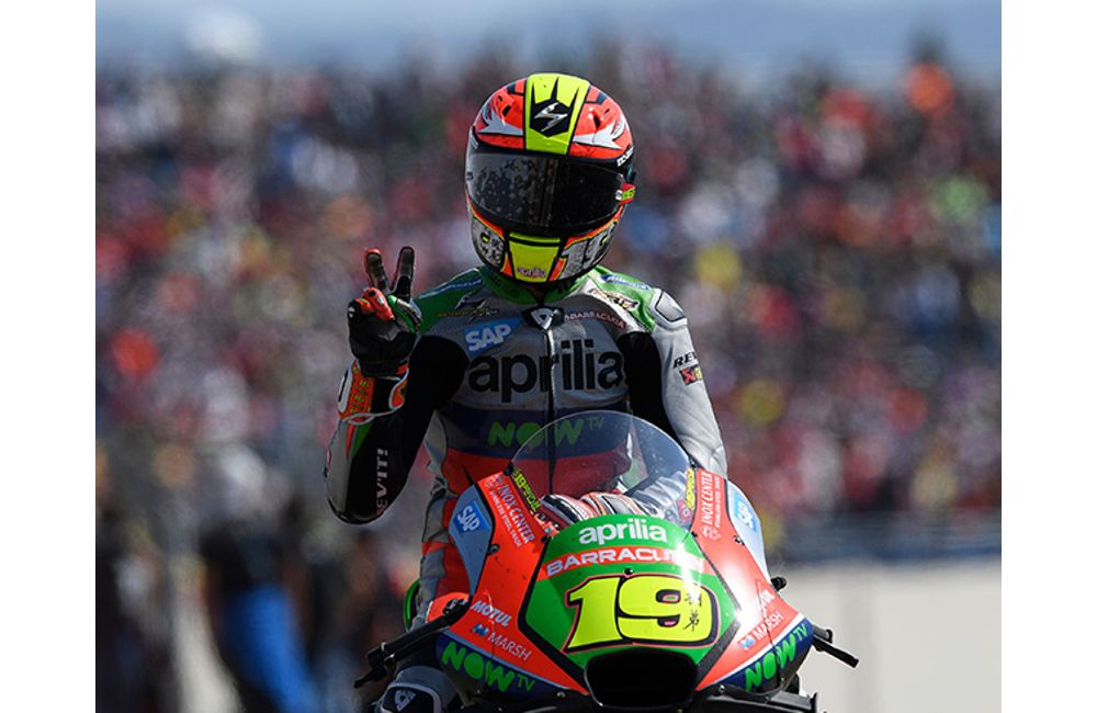 GOOD RACE AND EXCELLENT RESULT FOR THE APRILIAS AT ARAGÓN_1