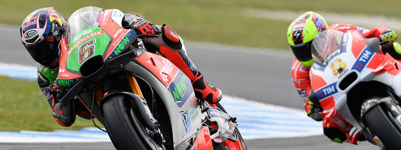 BOTH APRILIAS IN THE POINTS IN AUSTRALIA