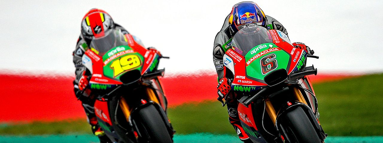 FALL TEMPERATURES WELCOME APRILIA TO THE RED BULL RING