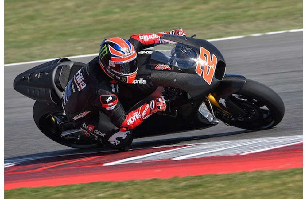 Sam Lowes per la prima volta in sella alla Aprilia RS-GP_Sam Lowes1