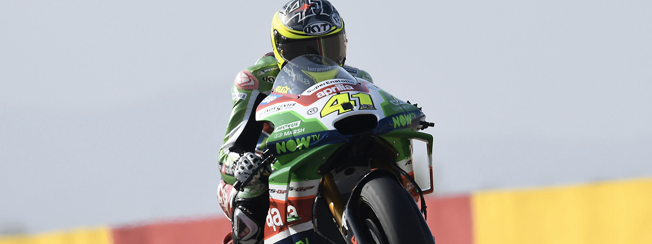 GOOD PERFORMANCE FOR ESPARGARÓ AND APRILIA ON THE THIRD ROW