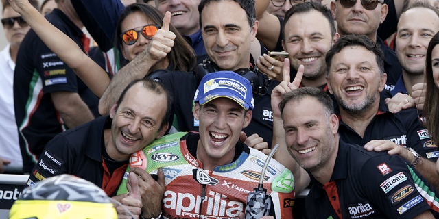 ESPARGARÓ RIDES HIS APRILIA TO A SIXTH PLACE FINISH IN ARAGÓN, CLOSER THAN EVER TO THE LEADERS