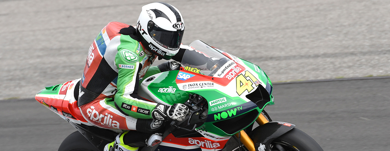 APRILIA RIDERS UNABLE TO FIND CONFIDENCE IN THE SOFT TYRE USED IN QUALIFYING