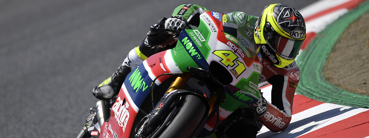 ALEIX ESPARGARÓ TAKES APRILIA TO THE SECOND ROW WITH THE FIFTH BEST TIME