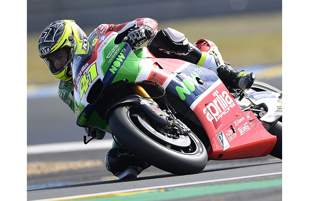 SIXTH AND SEVENTH ROW FOR APRILIA IN THE FRENCH GP_0