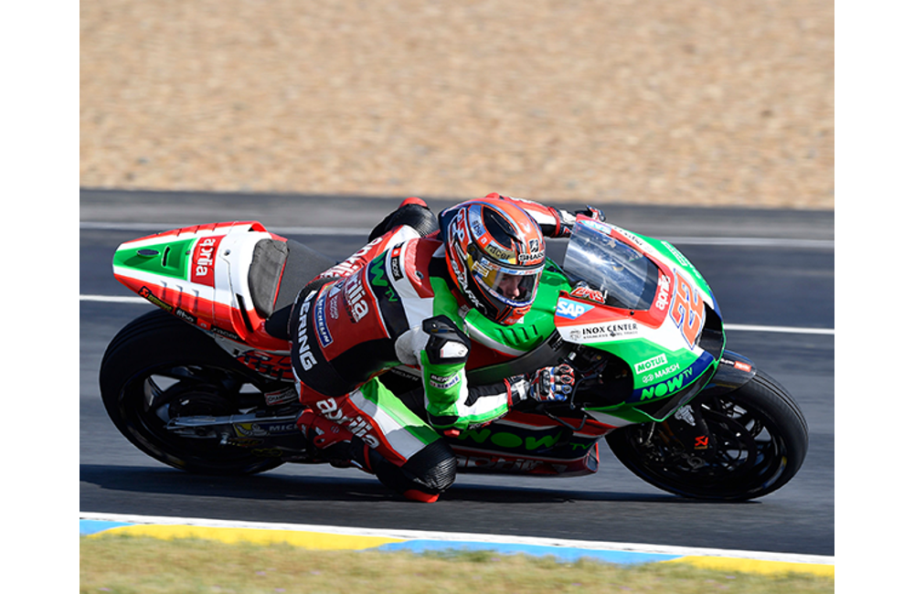 SIXTH AND SEVENTH ROW FOR APRILIA IN THE FRENCH GP_1