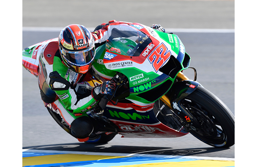 SIXTH AND SEVENTH ROW FOR APRILIA IN THE FRENCH GP_2