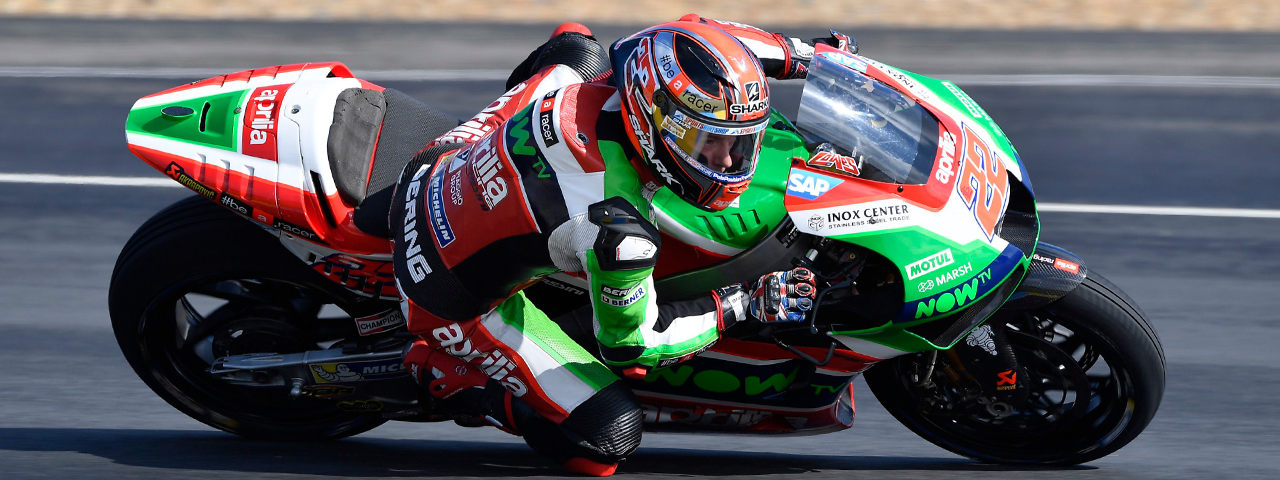 SIXTH AND SEVENTH ROW FOR APRILIA IN THE FRENCH GP