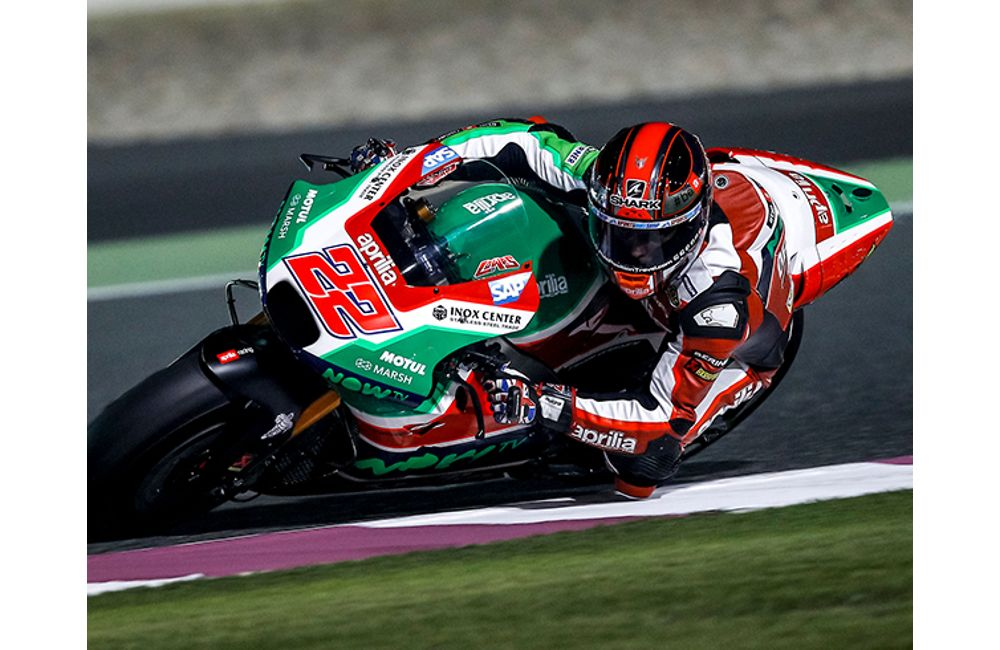 FIRST PRACTICE SESSION IN QATAR FOR THE APRILIA RS-GP MACHINES_1