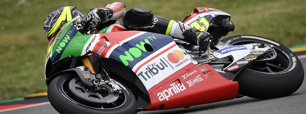 WITH EXCELLENT PERFORMANCE IN FREE PRACTICE ALEIX ESPARGARÓ GOES THROUGH TO Q2 AND RIDES HIS APRILIA TO THE THIRD ROW