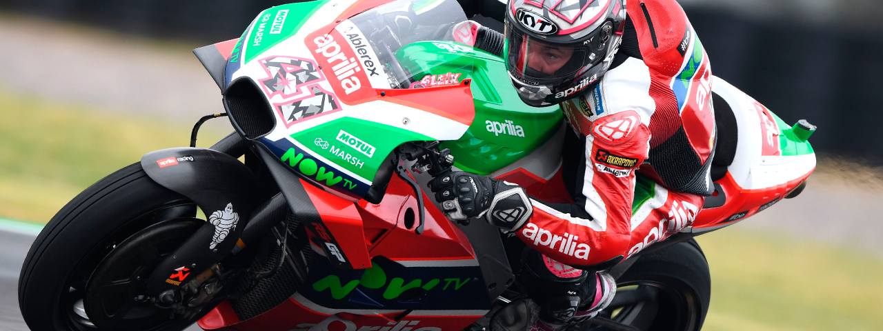 ESPARGARÓ IS FIRST IN Q1 AND RIDES THE RS-GP JUST SHORT OF THE BEST.