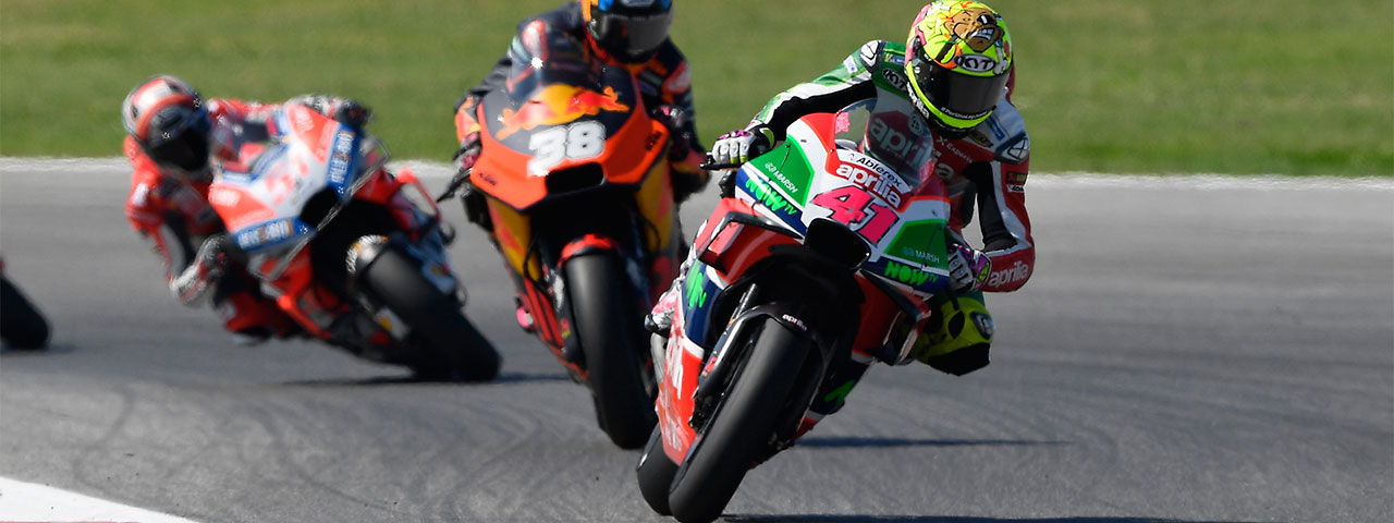 ALEIX ESPARGARÓ, FOURTEENTH, RIDES HIS APRILIA TO A POINTS FINISH