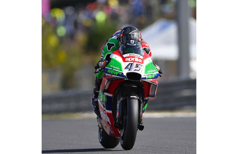 SEVENTH ROW FOR THE APRILIA MACHINES IN THE JAPAN GP_1