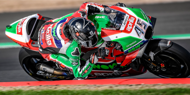 ESPARGARÓ 16TH AND REDDING 20TH AT THE END OF THE FIRST DAY OF PRACTICE AT SILVERSTONE_thumb