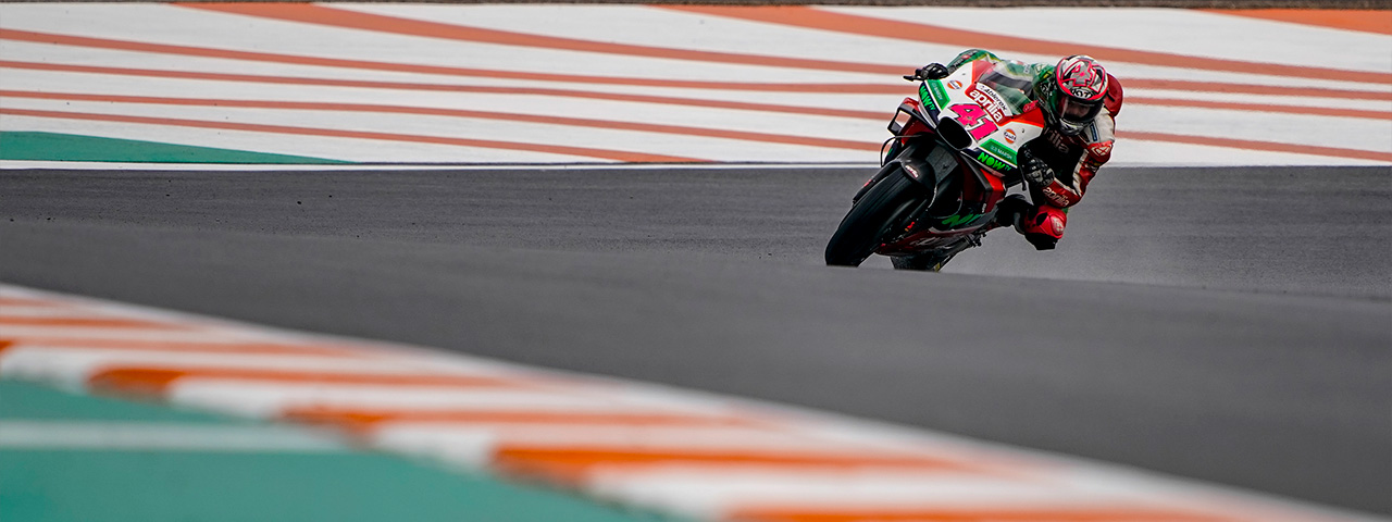 OUTSTANDING QUALIFIERS FOR APRILIA IN VALENCIA