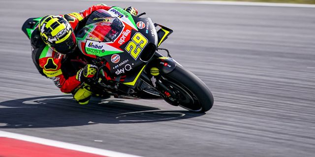 DIFFICULT QUALIFIERS, BUT GOOD PACE FOR THE APRILIAS ON THE SCORCHING SPANISH ASPHALT_thumb