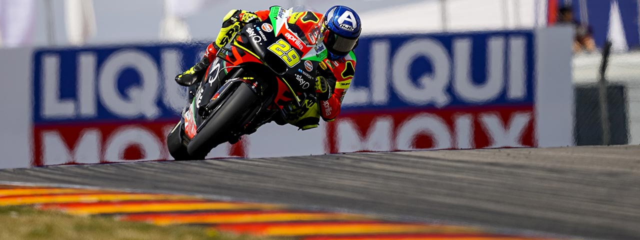 SATISFACTION AND REGRETS FOR APRILIA IN THE GERMAN RACE
