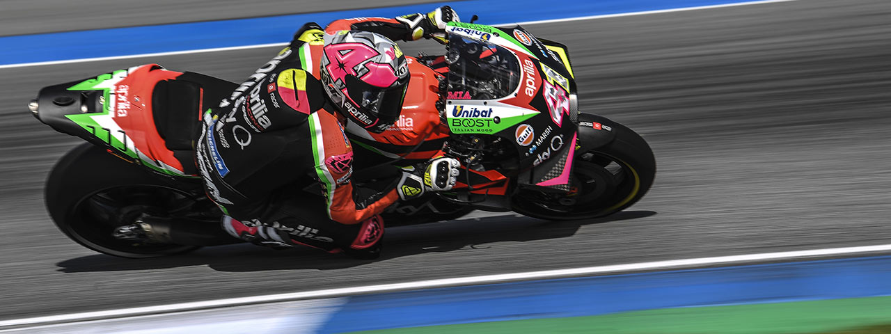 FOURTH AND SIXTH ROW FOR THE APRILIAS IN THE GP OF THAILAND