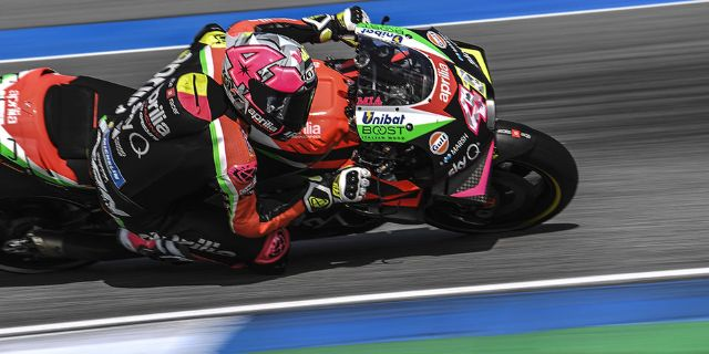 FOURTH AND SIXTH ROW FOR THE APRILIAS IN THE GP OF THAILAND_thumb