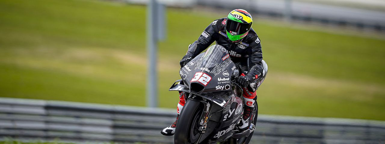 Lorenzo Savadori with Aprilia Racing
