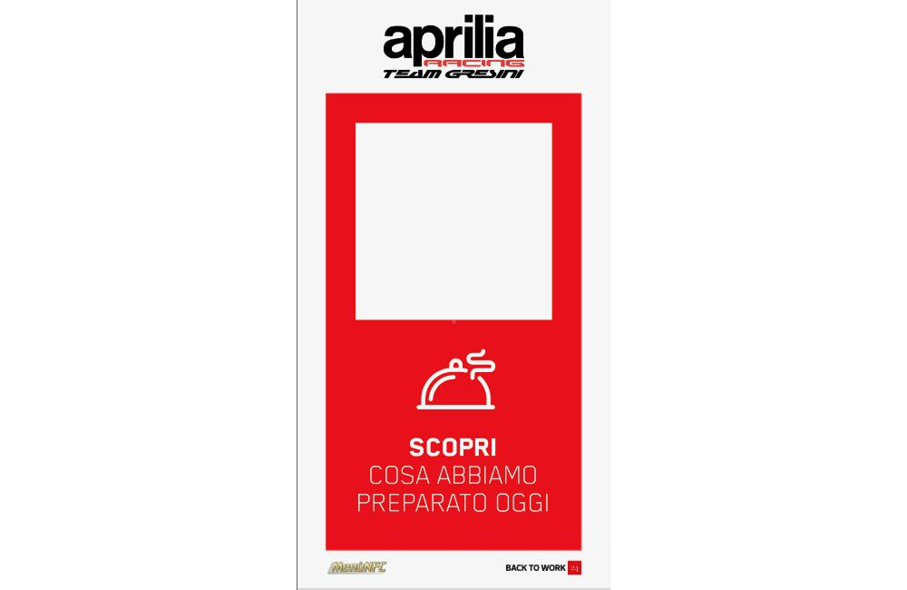 MENUNFC BRINGS INTERACTIVE MENU TO APRILIA RACING HOSPITALITY_2