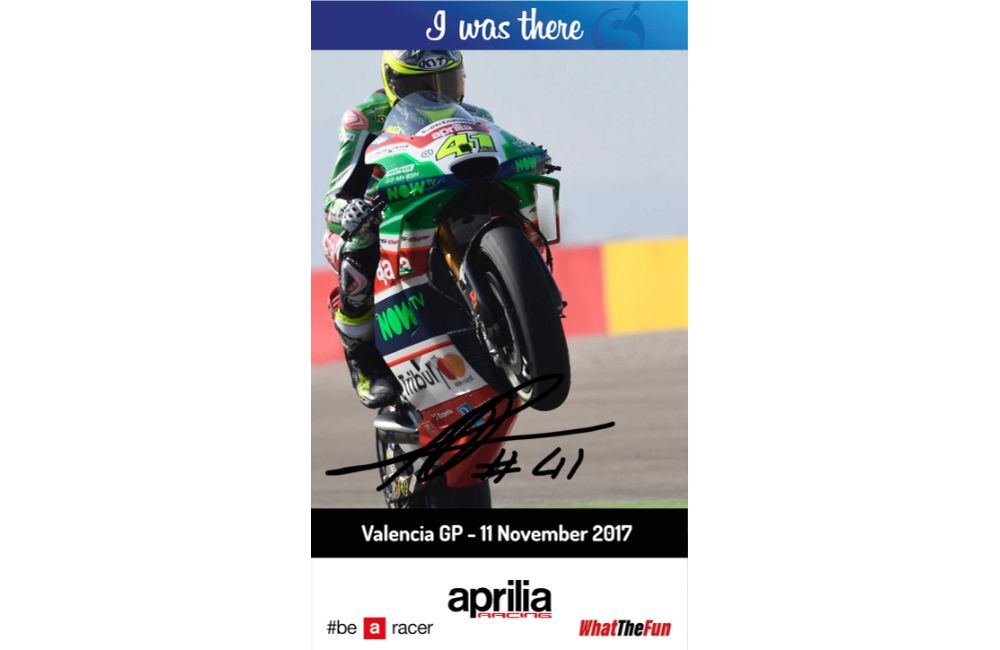 APRILIA RACING AND STARGRAPH BRING THE DIGITAL AUTOGRAPH TO VALENCIA MOTOGP_0