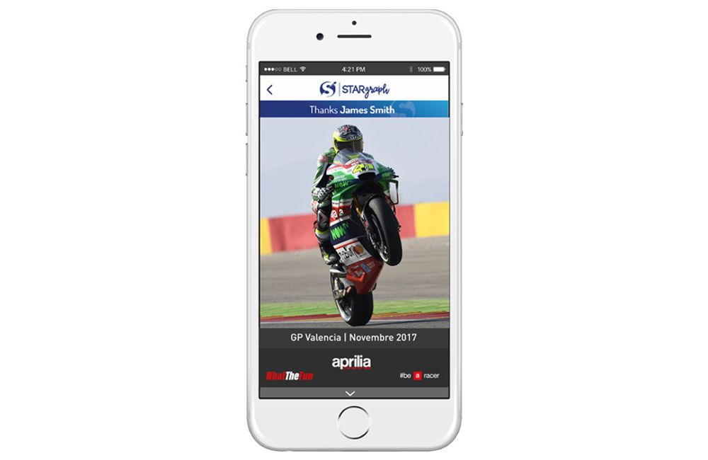 APRILIA RACING AND STARGRAPH BRING THE DIGITAL AUTOGRAPH TO VALENCIA MOTOGP_2