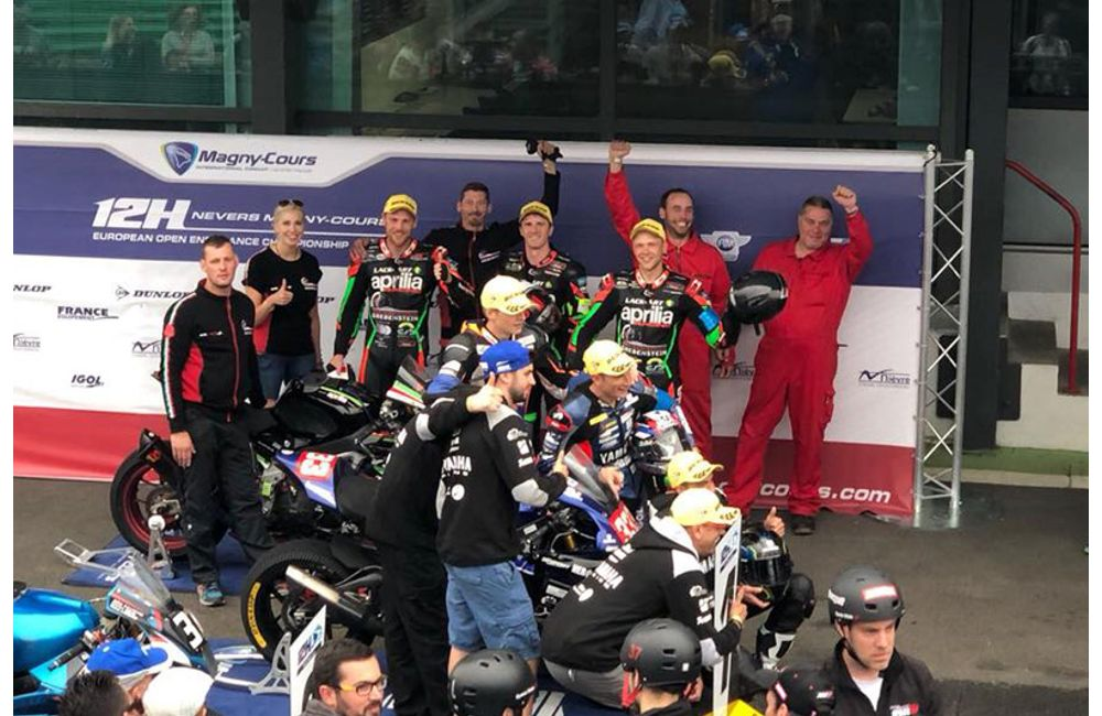 ENDURANCE EUROPEAN, APRILIA GREBENSTEIN MAKES THE PODIUM IN MAGNY COURS_1