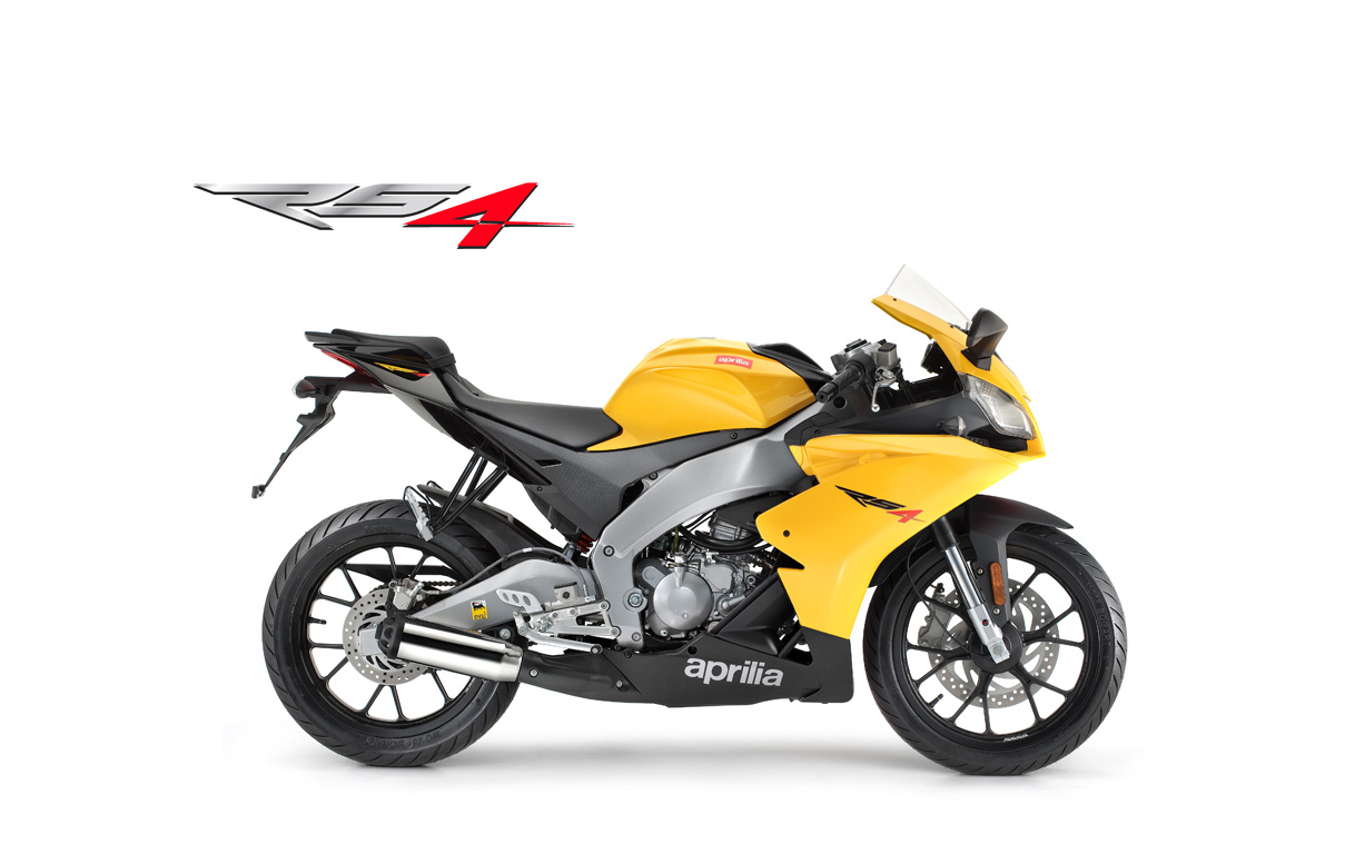 Aprilia RS4 50 yellow banner