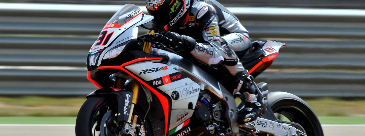 APRILIA: LEON HASLAM FINISHES HIS WEEKEND AT MOTORLAND DE ARAGON ON THE PODIUM.