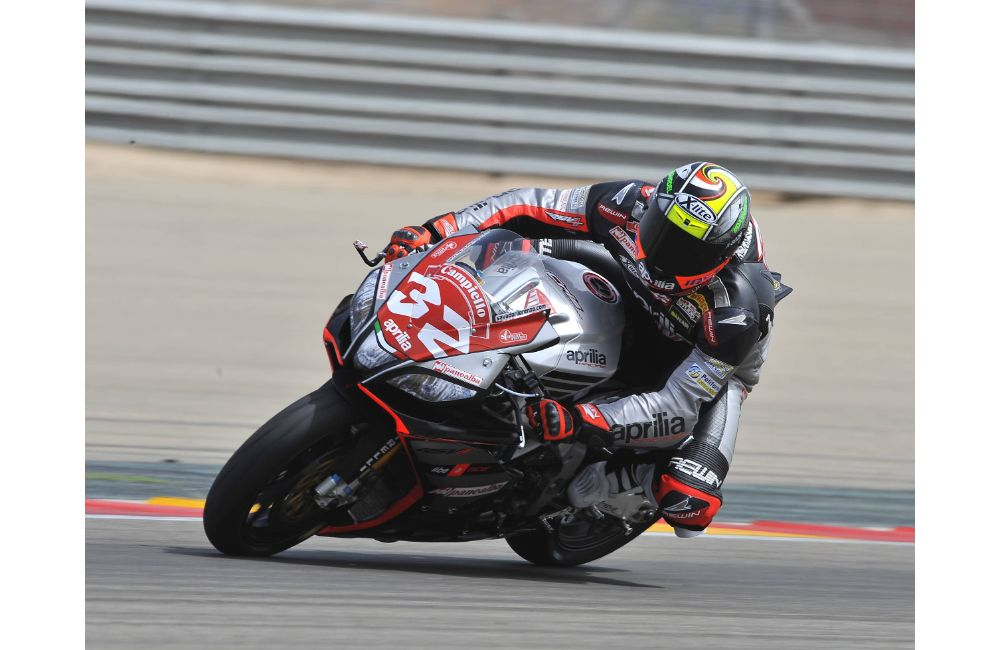 APRILIA: LEON HASLAM FINISHES HIS WEEKEND AT MOTORLAND DE ARAGON ON THE PODIUM. _0