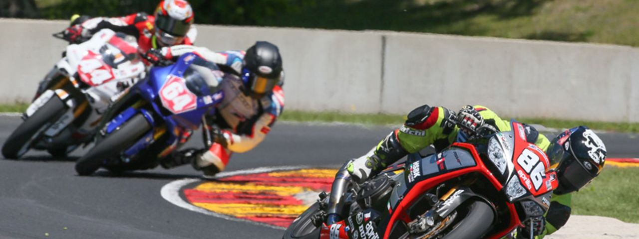 USA: APRILIA HSBK RACING ON THE BOX AT ROAD AMERICA
