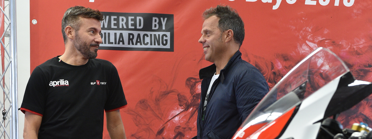 MAX BIAGGI AND LORIS CAPIROSSI TOGETHER AGAIN ON THE TRACK