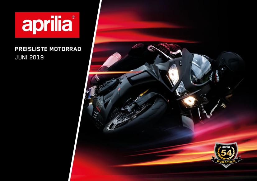Aprilia Motorrad Preisliste